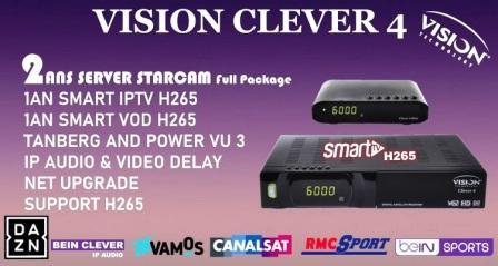 تحميل قنوات و فلاش VISION CLEVER 4 MINI