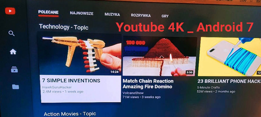 تطبيقYoutube 4k Tvbox Android 7