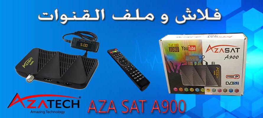 فلاش و  ملف قنوات جهاز azasat A900